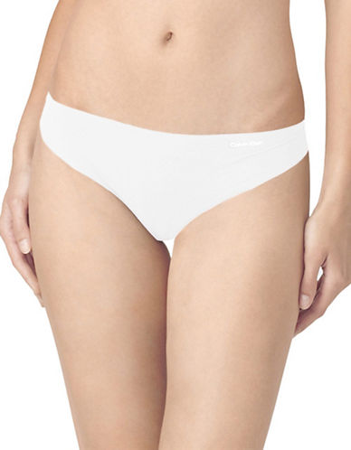 Calvin Klein Invisibles Thong-WHITE-Small