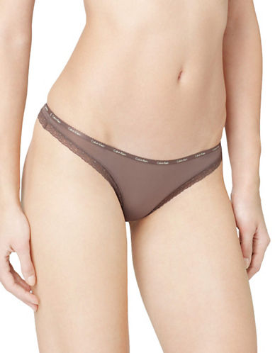 Calvin Klein Bottoms Up Thong-SMOKE-Large