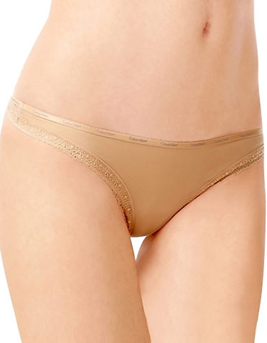 Calvin Klein Bottoms Up Thong-BEIGE-Large