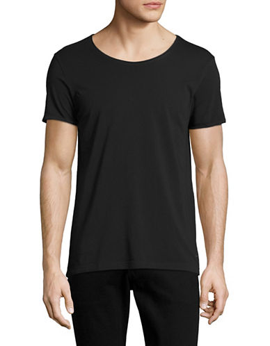 Boss Orange Garment-Dyed T-Shirt-BLACK-XX-Large 88954170_BLACK_XX-Large