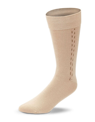 Black Brown 1826 Combed Cotton Socks-TAN-7-12