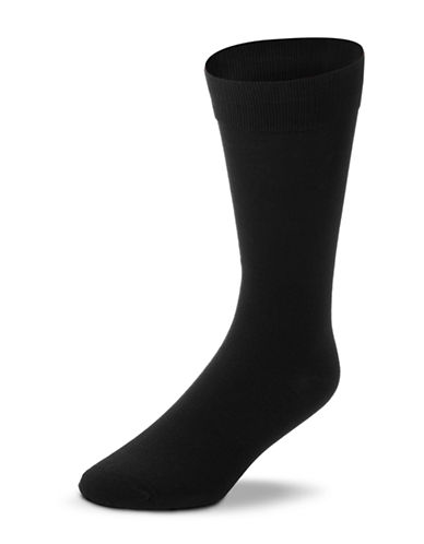 Black Brown 1826 Mercerized Cotton Socks-BLACK-7-12