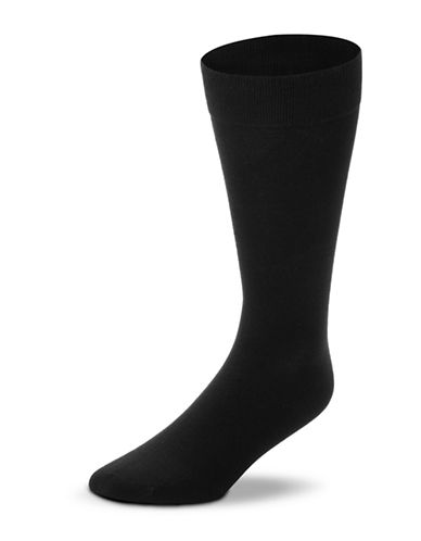 Black Brown 1826 3-Pack Combed Cotton Socks-BLACK-7-12