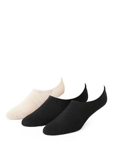 Black Brown 1826 3 Pair Low Cut Ankle Socks-ASSORTED-7-12