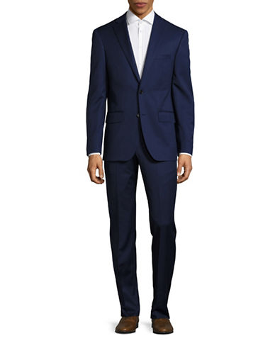 Dkny Slim Fit Two-Button Suit-NAVY-38 Short