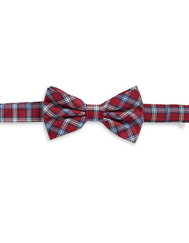 Lauren Ralph Lauren Silk-Blend Bow Tie and Patterned Pocket Square Set-RED-One Size