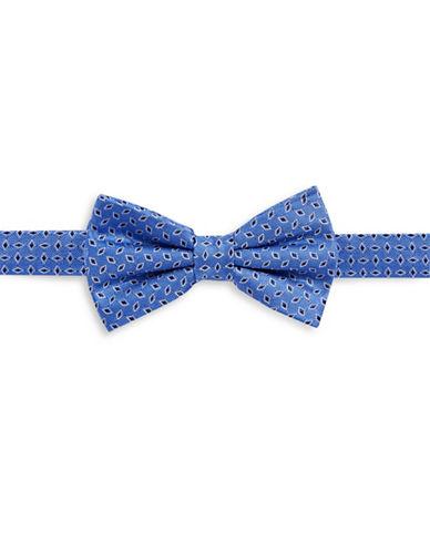 Lauren Ralph Lauren Diamond Dobby Silk Bow Tie-BLUE-One Size