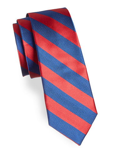 Lauren Ralph Lauren Stripe Silk Tie-RED-One Size