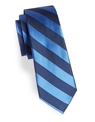 Lauren Ralph Lauren Stripe Silk Tie-BLUE-One Size