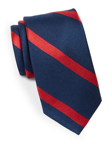 Lauren Ralph Lauren Silk Diagonal Striped Tie-BLUE-One Size