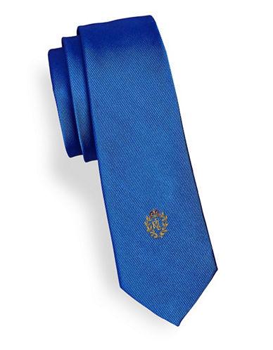 Lauren Ralph Lauren Silk Twill Crest Tie-BLUE-One Size