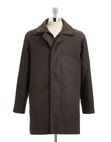 Lauren Ralph Lauren Raincoat with Removable Lining-BROWN/OLIVE-40