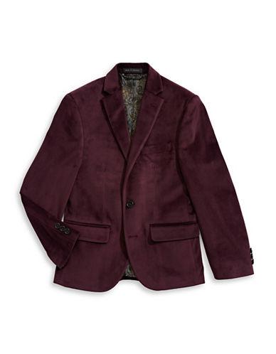 Lauren Ralph Lauren Velvet Sport Coat-RED-16