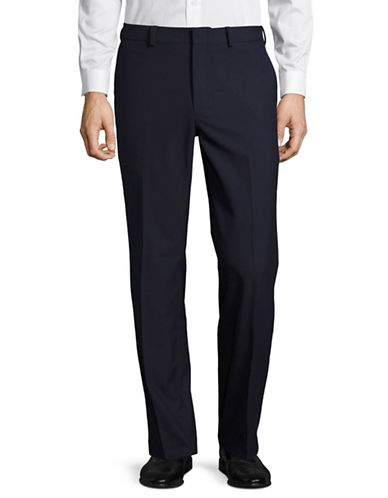 Lauren Ralph Lauren Slim Fit Wrinkle-Resistant Total Stretch Dress Pants-BLUE-36X30