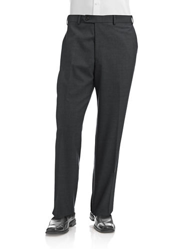 Lauren Ralph Lauren Wool Pants-CHARCOAL-36