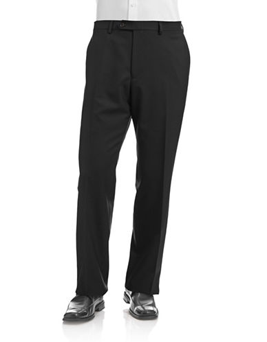 Lauren Ralph Lauren Stretch Dress Pants-BLACK-32
