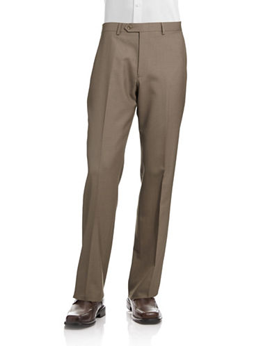 Lauren Ralph Lauren Stretch Dress Pants-LIGHT BROWN-40