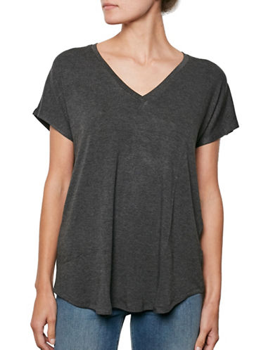 Amour Vert V-Neck Tee-ANTHRACITE-Small