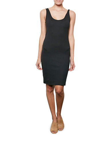 Amour Vert Sleeveless Tailored Ponte Dress-BLACK-Medium
