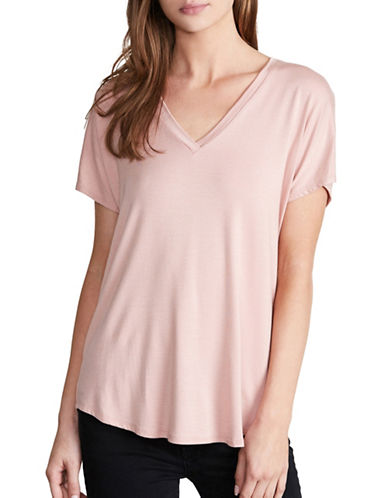 Amour Vert V-Neck Tee-PINK-Large