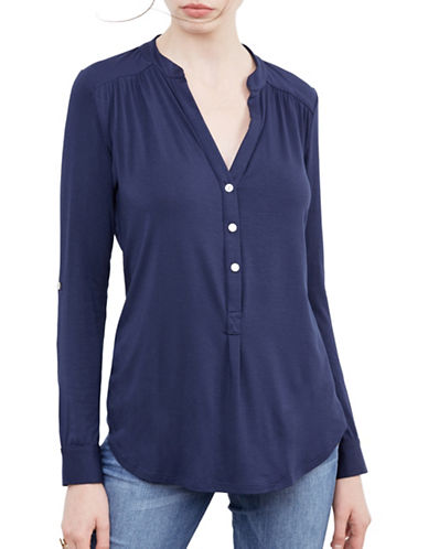 Amour Vert Sustainable Henley-BLUE-Medium