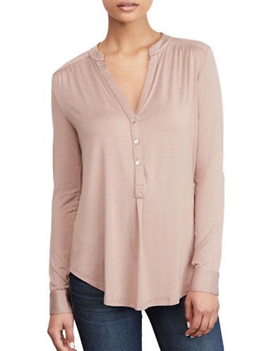 Amour Vert Sustainable Henley-PINK-X-Small
