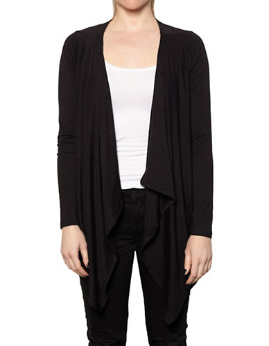 Amour Vert Angled Front Cardigan-MIDNIGHT-Small