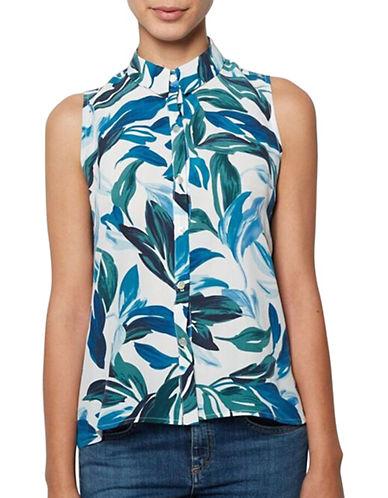 Leaf Print Silk Top by Amour Vert