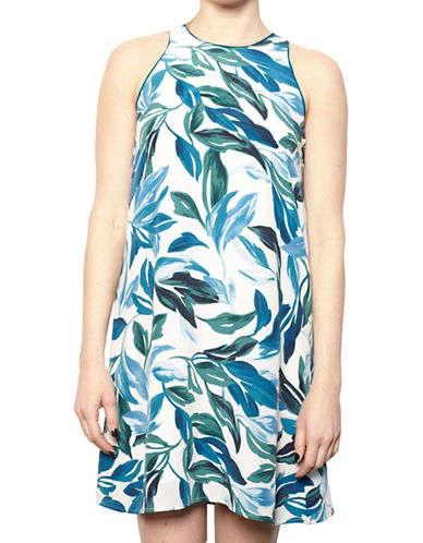Amour Vert Silk Trapeze Dress-NATURAL-Small