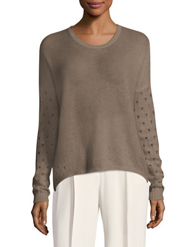 Kokun Open Knit Sweater-BEIGE-Medium
