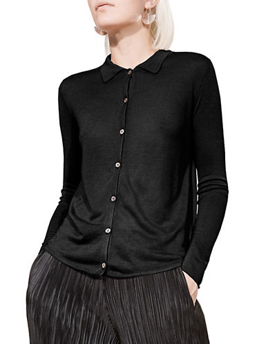 Kokun Slim-Fit Bamboo and Cashmere Shirt-BLACK-Small
