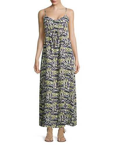 Lori Michaels Printed Open-Back Maxi Dress-PRINT-Medium