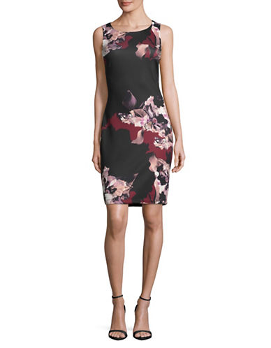 Lori Michaels Floral Sheath Dress-ASSORTED-X-Large