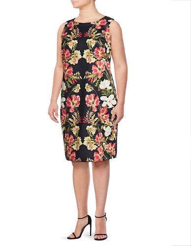 Lori Michaels Plus Sleeveless Sheath Dress-BLACK-3X