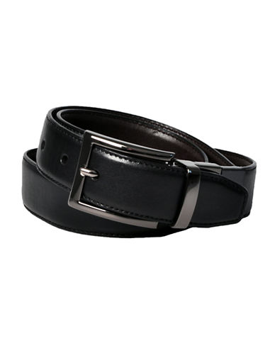 Dockers 32mm Feather Edge Reversible Belt-CHARCOAL-42