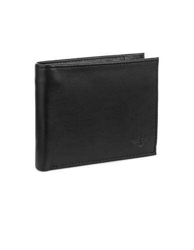 Dockers Glen Ellyn Leather Traveler Wallet-BLACK-One Size