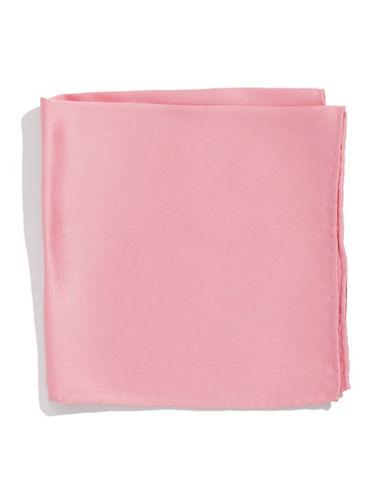 Countess Mara Silk Pocket Square-PINK-One Size