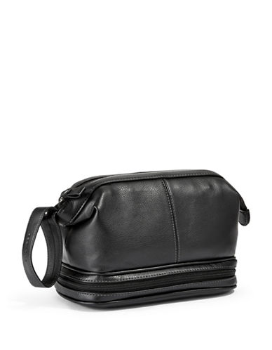 Dockers Top and Bottom Zip Travel Bag-BLACK-One Size