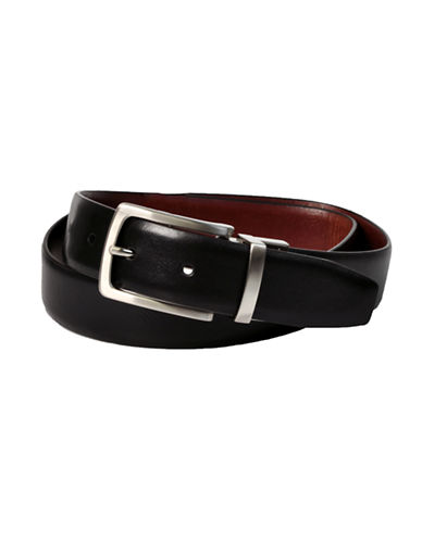 Dockers Reversible Feather Edge Leather Belt-BLACK/BROWN-40