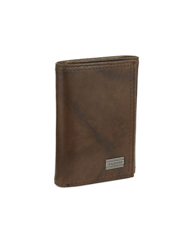 Dockers Extra Capacity Trifold Wallet-BROWN-One Size