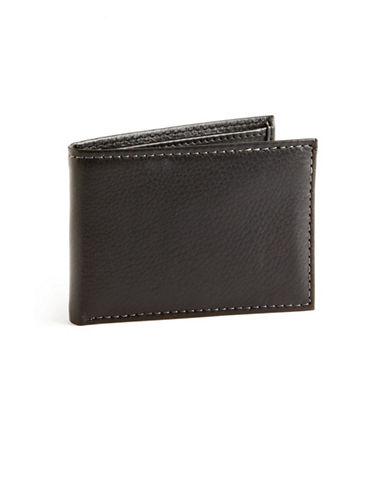 Black Brown 1826 Slim Passcase Wallet-BLACK-One Size