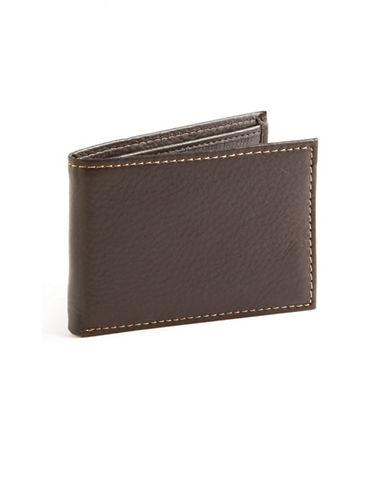 Black Brown 1826 Slim Passcase Wallet-BROWN-One Size
