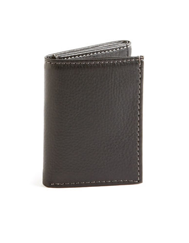 Black Brown 1826 Slim Trifold Wallet-BLACK-One Size