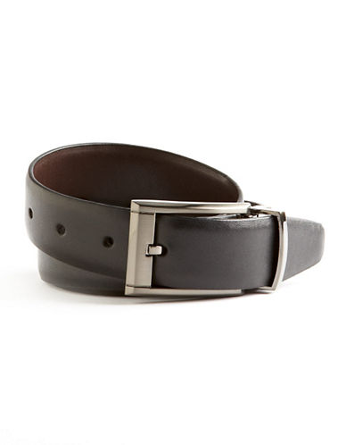 Black Brown 1826 Dress Belt-BLACK/BROWN-42