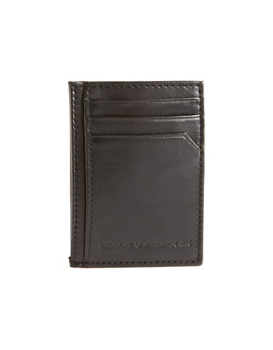 Black Brown 1826 Card Case and Clip Wallet-BLACK-One Size