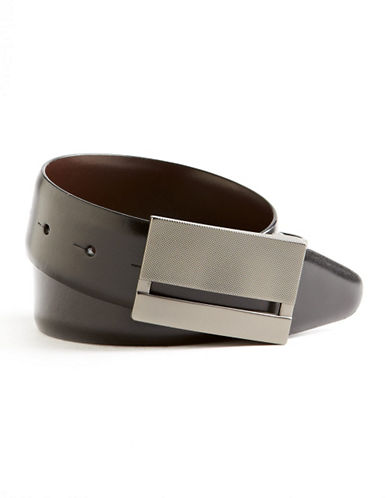 Black Brown 1826 Plaque Rev Belt-BLACK/BROWN-40
