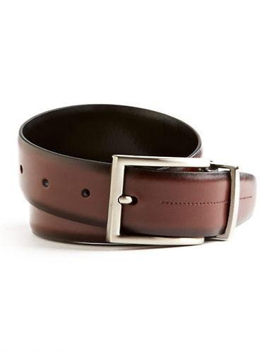 Black Brown 1826 Stitched Belt-BROWN-36