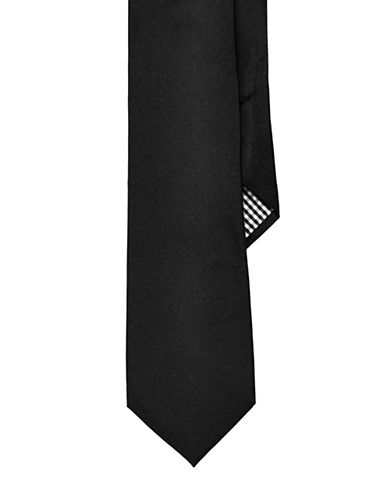 Ben Sherman Solid Tie-BLACK-One Size