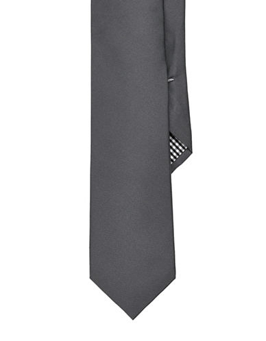 Ben Sherman Solid Tie-CHARCOAL-One Size