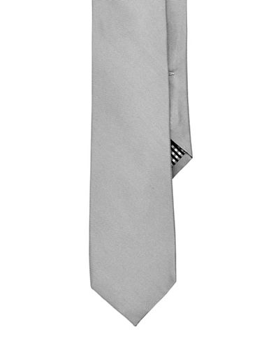 Ben Sherman Solid Tie-SILVER-One Size
